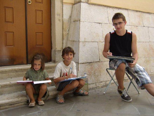 děti malující