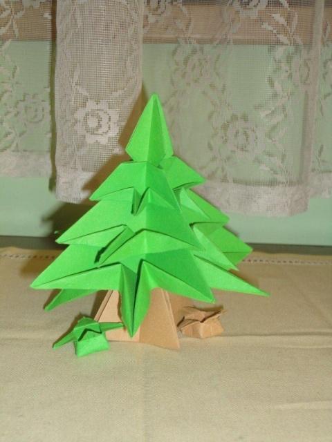 Origami stromek